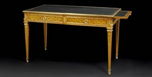 Aveline - bureau plat louis xvi - Writing Table