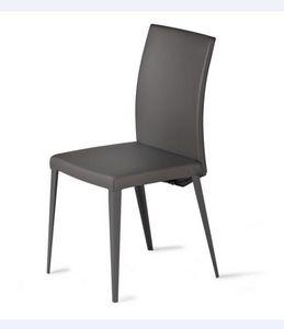 Casonaka - Chair - Brown - Leather - ROCHE BOBOIS
