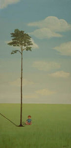 Deborah King - small world - Oil On Canvas And Oil On Panel