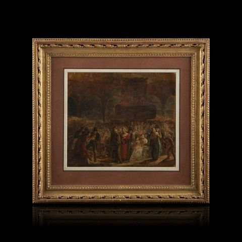 Expertissim - Landscape painting-Expertissim-Pauline AUZOU. Entrée de Louis XVIII à Paris (?)