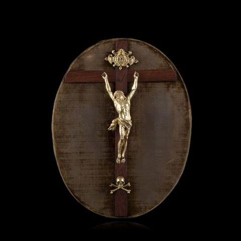 Expertissim - Crucifix-Expertissim-Christ janséniste en bronze doré