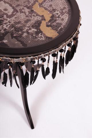 RELOADED DESIGN - Pedestal table-RELOADED DESIGN-Mini Table Met Safari Snake  - Small