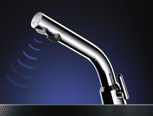 DELABIE - Electronic basin mixer tap-DELABIE-BINOPTIC MIX