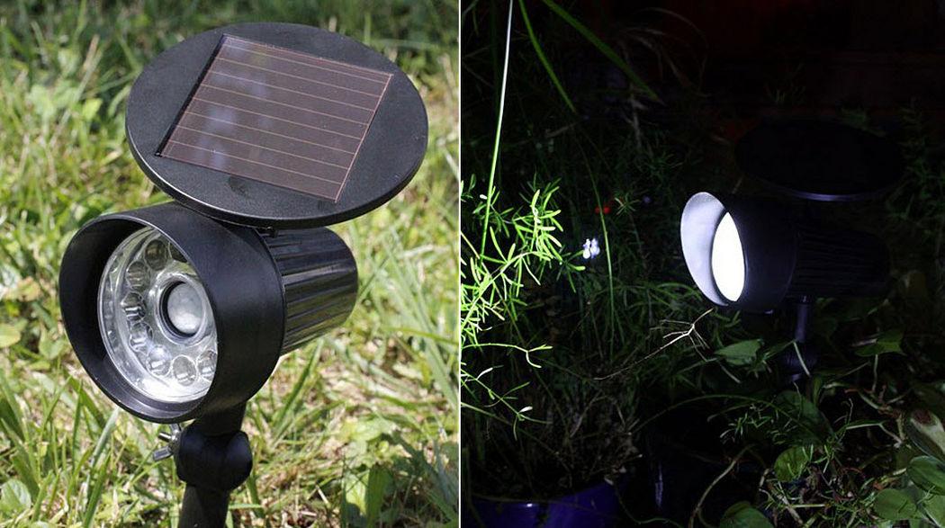 WATT & HOME Spot mit Detektor Scheinwerfer Außenleuchten  |