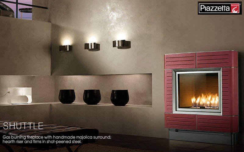 PIAZZETTA DESIGN Geschlossener Kamin Kamine Kamin Wohnzimmer-Bar | Design Modern