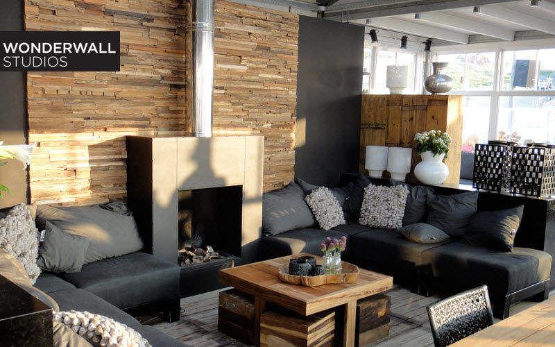 WONDERWALL STUDIOS Wandverkleidung Wandbelag Wände & Decken Wohnzimmer-Bar |