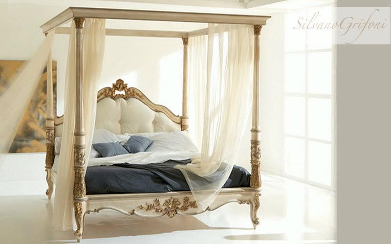 Silvano Grifoni Doppel-Himmelbett Doppelbett Betten Schlafzimmer | Klassisch
