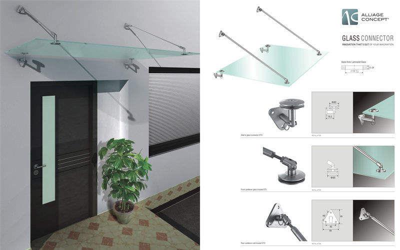 ALLIAGE CONCEPT Verglaste Eingangstür Tür Fenster & Türen Eingang | Design Modern
