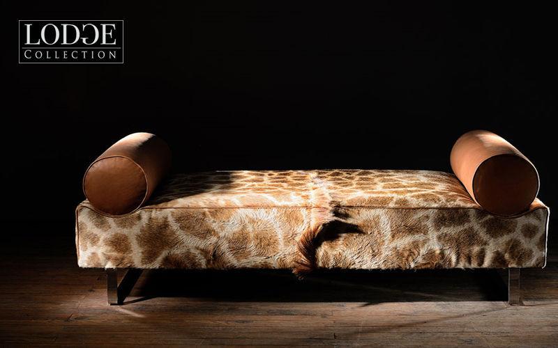 LODGE COLLECTION Recamiere Einzelbett Betten Wohnzimmer-Bar | Exotisch