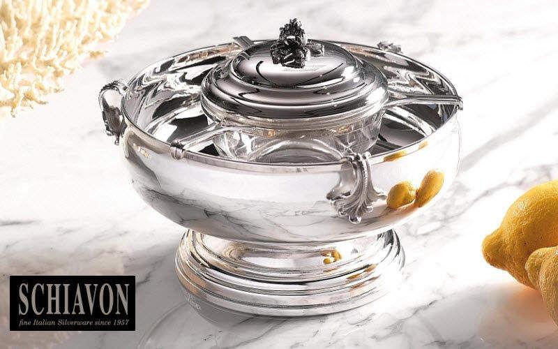 Schiavon Kaviarschale Becher und kleine Becher Geschirr  |