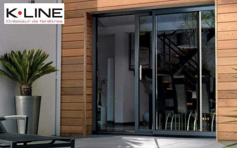 K-LINE Schiebeglasfensterfront Balkon-/Terrassentüren Fenster & Türen  |