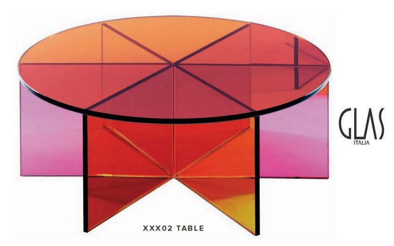 GLAS ITALIA Runder Couchtisch Couchtische Tisch  |