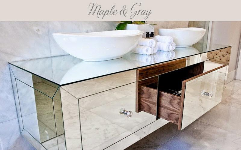 MAPLE & gray waschtisch untermobel Badezimmermöbel Bad Sanitär  |