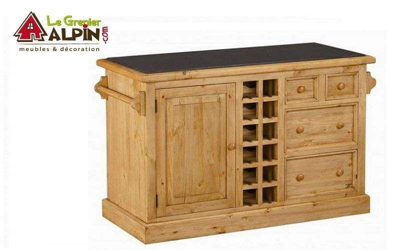 LE GRENIER ALPIN Küchenblock Arbeitsplatten und Anrichten Küchenausstattung  |