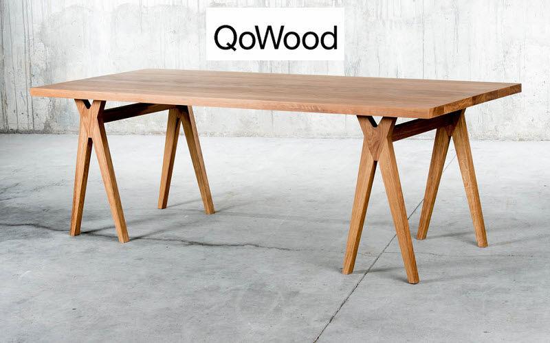 QOWOOD Rechteckiger Esstisch Esstische Tisch  |
