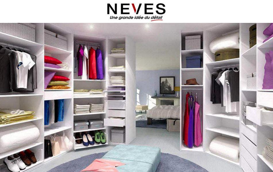 Neves Dressing in U Ankleidezimmer Garderobe  |