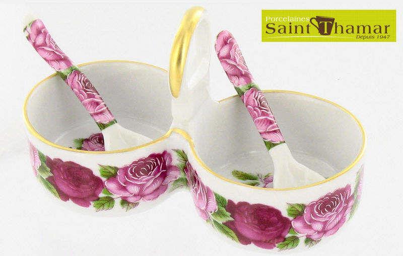 Porcelaines Saint-Thamar Salz- und Pfefferstreuer Gewürze Tischzubehör  |
