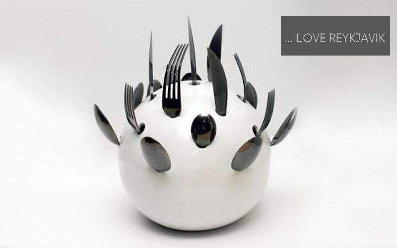 ... LOVE REYKJAVIK Bestecktopf Aufbewahrung (Dosen-Töpfe-Gläser) Küchenaccessoires Küche | Unkonventionell
