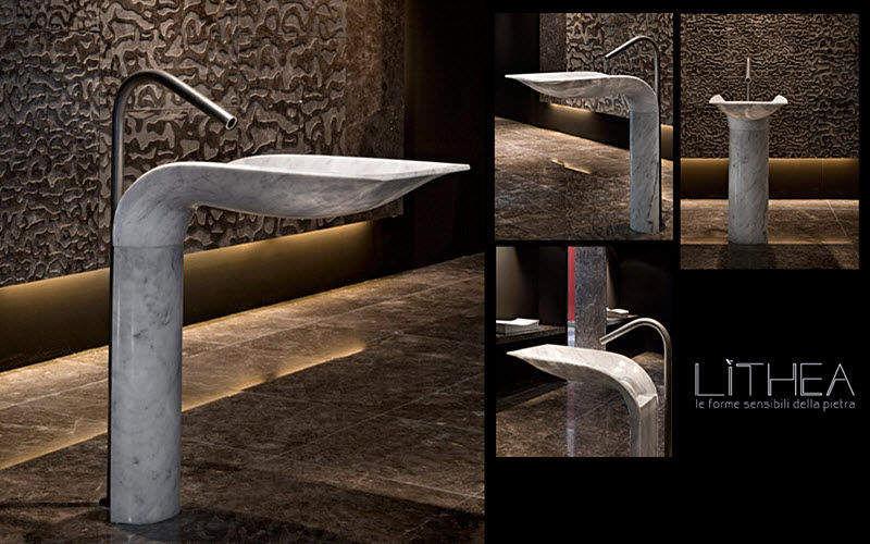 LITHEA Fuß- oder Säulenwaschbecken Waschbecken Bad Sanitär  |