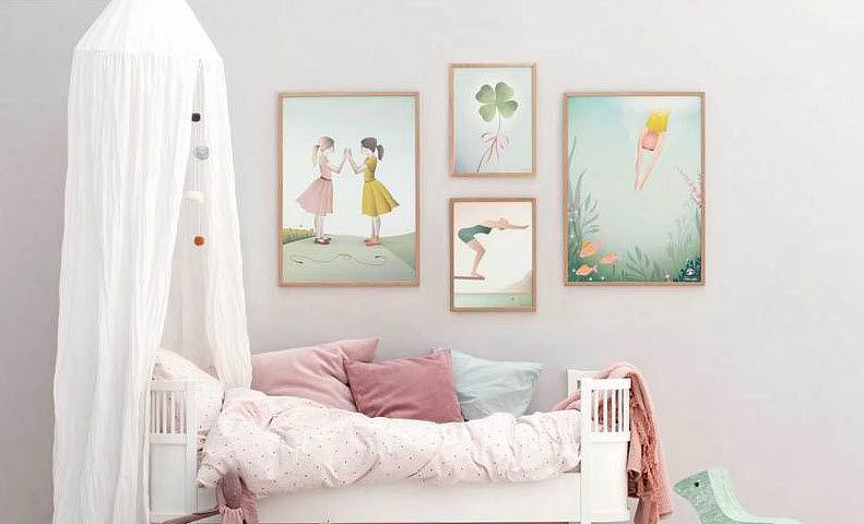 VISSEVASSE Dekorative Gemälde für Kinder Dekoration für Kinder Kinderecke  |