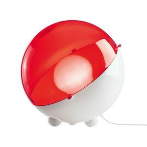 Koziol - orion - lampe à poser rouge/transparent ø32,9cm    - Tischlampen