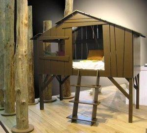 L'oiseau fait son nid -  - Hütte Bett Für Kinder