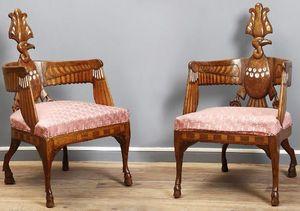 Galerie Jérôme Pla - paire de fauteuils néo-egyptiens berlin - Sessel