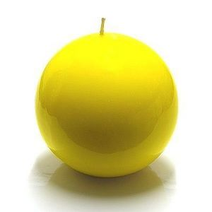 Cerabella - bougie ronde jaune - Rundkerze
