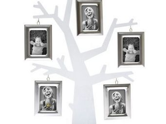 Present Time - cadre photo arbre généalogique - couleur - argenté - Fotorahmen