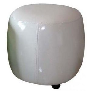 International Design - pouf rond pvc - couleur - blanc - Sitzkissen