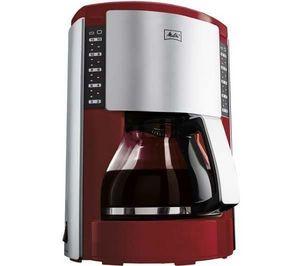 Melitta - cafetire look slection iii rouge/argent m651-0503 - Filterkaffeemaschine