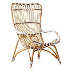 Sika design - fauteuil chantal en rotin et fibre 88x64x99cm - Gartensessel