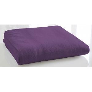 TODAY - serviette de bain unie 70 x 130 cm - couleur - vio - Handtuch