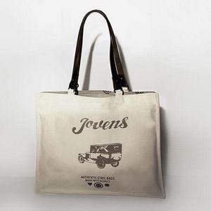 JOVENS - sac en toile et cuir le photographe jové - Handtasche