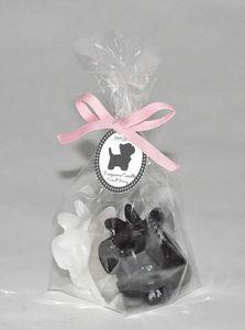 Demeure et Jardin - deux petites bougies chiens scottish - Dekokerze