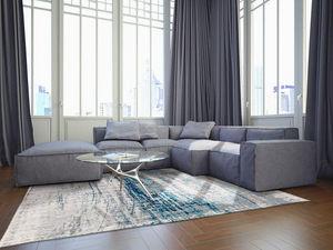 Louis De Poortere - bronx azurit - Moderner Teppich