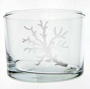 Au Bain Marie - verre droit bas corail - Glas