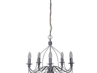 Corep - symphonie - lustre 5 lampes gris   suspension core - Kronleuchter