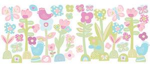 Wallies - stickers chambre bébé c'est le printemps - Kinderklebdekor