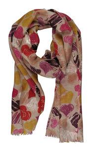Terre Rouge - echarpe beige 100% laine - Schal