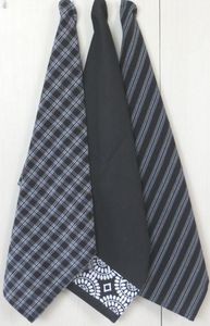 ITI  - Indian Textile Innovation - check stripe print - Geschirrhandtuch
