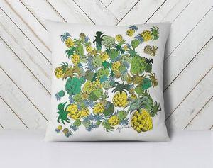 la Magie dans l'Image - coussin ananas - Kissen Quadratisch