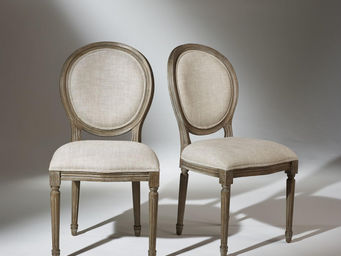 Robin des bois - 2 chaises médaillon lin premium - Medaillon Stuhl