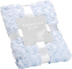 Amadeus - plaid enfant bleu layette - Kinderdecke