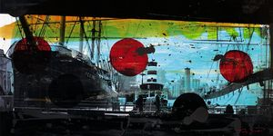 Nouvelles Images - affiche port de manhattan - Plakat