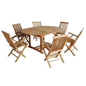 BOIS DESSUS BOIS DESSOUS - salon de jardin en bois de teck midland 6/8 places - Garten Esszimmer