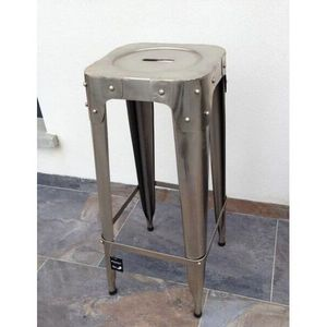 Mathi Design - tabouret de bar riveté entrepot - Barhocker
