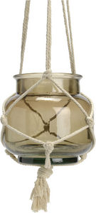 KORB - suspension macrame taupe - Windlicht