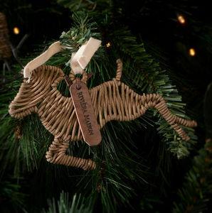 Riviera Maison - rustic rattan deer - Weihnachtsbaumschmuck