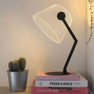 STUDIO CHEHA - ziggi - lampe noire led effet 3d - Tischlampen